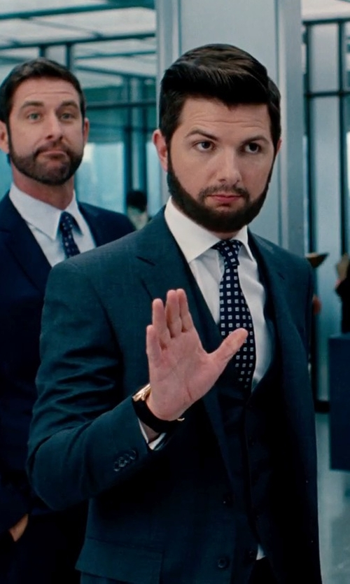 Adam Scott with John W. Nordstrom Classic Fit Check Three Piece Suit in The Secret Life of Walter Mitty