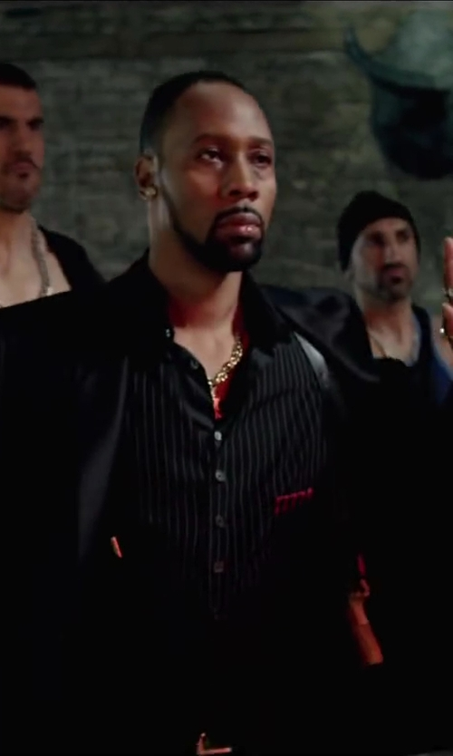 RZA with Burberry SLIM FIT WOOL MOHAIR TUXEDO in Brick Mansions