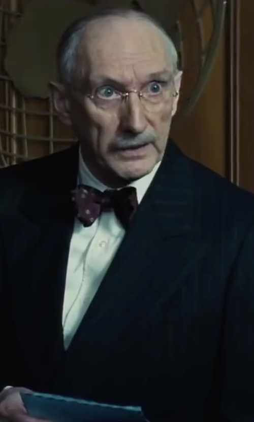 Peter McRobbie with Alexander McQueen Silk Skull & Polka Dot-Print Bow Tie in Bridge of Spies