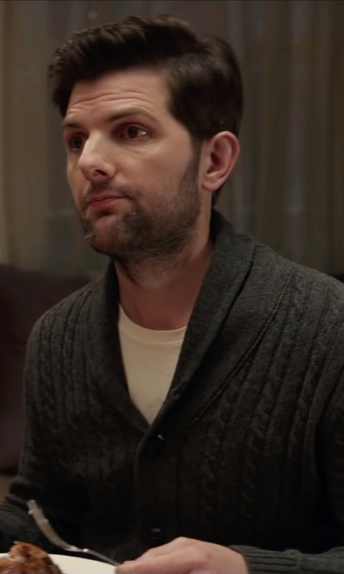 Adam Scott with Asos Loungewear T-Shirt in Krampus