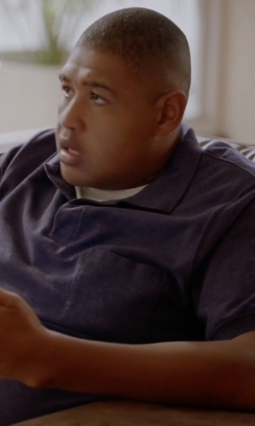 Omar Benson Miller with Tom Ford Short-Sleeve Polo Shirt in Ballers