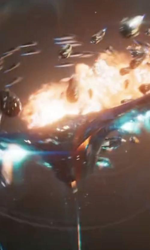 Chris Pratt with Charlie Wen (Concept Artist) Guardians of The Galaxy Warbird Rocket's M-Ship in Guardians of the Galaxy Vol. 2