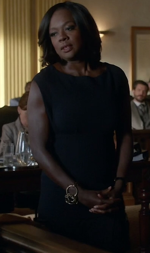 Viola Davis with Theory Minaeon Sleeveless Sheath Dress in How To Get Away With Murder