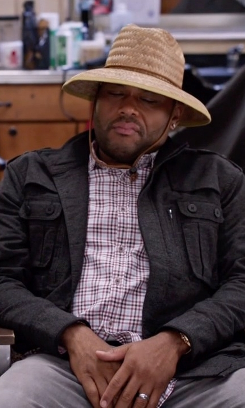 Anthony Anderson with G-Star Raw Falco Canvas Field Jacket in Black-ish