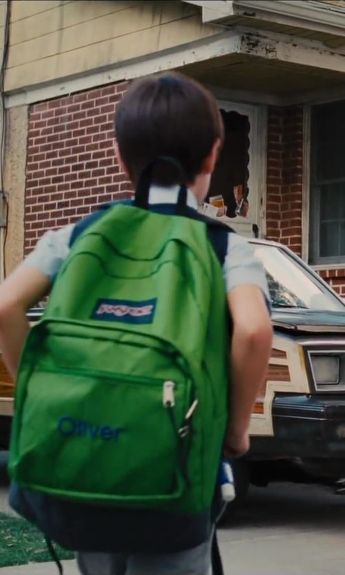 Jaeden Lieberher with Jansport Spring Break Classics Series Daypack Backpack in St. Vincent