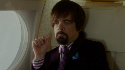 Peter Dinklage with Anto Purple Stripe Shirt in The Boss