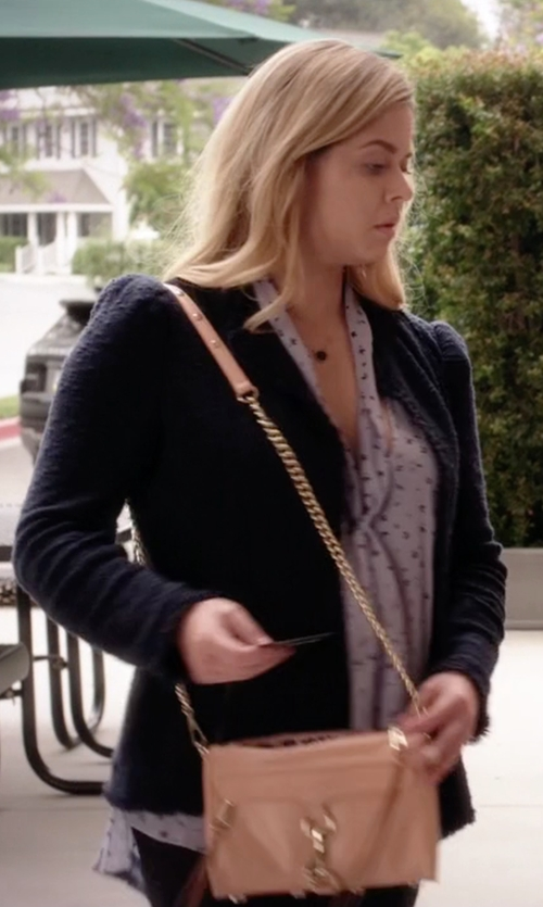Sasha Pieterse with Rebecca Minkoff Mini MAC Crossbody Bag in Pretty Little Liars