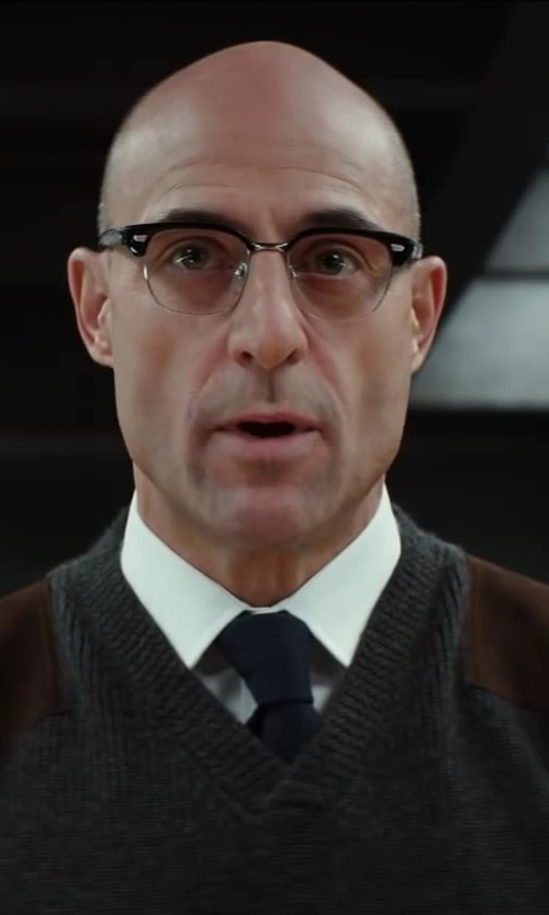 Mark Strong with Ermenegildo Zegna Twill Dress Shirt in Kingsman: The Secret Service