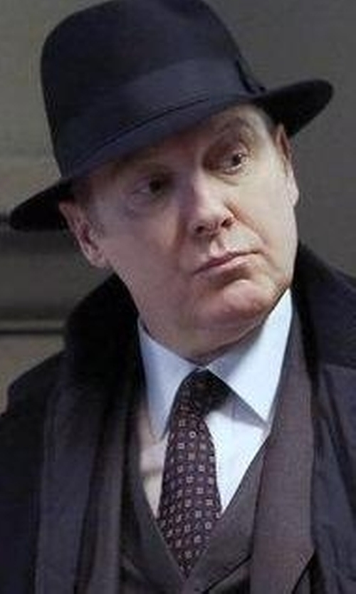 James Spader with Eton Neat Floral Silk Tie in The Blacklist