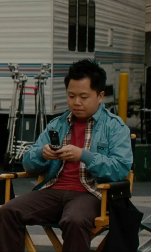 Matthew Moy with Steven Alan Plaid Classic Collegiate Shirt in No Strings Attached