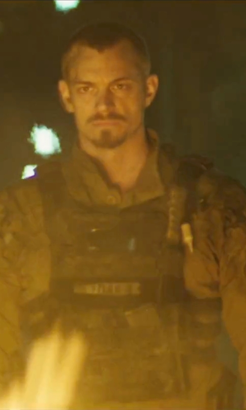 Joel Kinnaman with 5.11 Tactical Cotton Tactical Long Sleeve Shirt in Suicide Squad