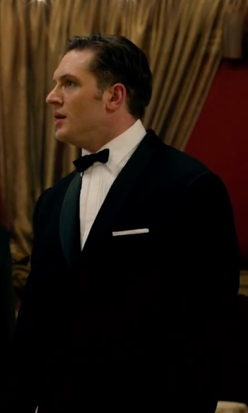 Tom Hardy with Calvin Klein Two Piece Tuxedo Suit in Legend