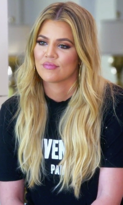 Khloe Kardashian with Givenchy Short Sleeve T-Shirt in Keeping Up With The Kardashians