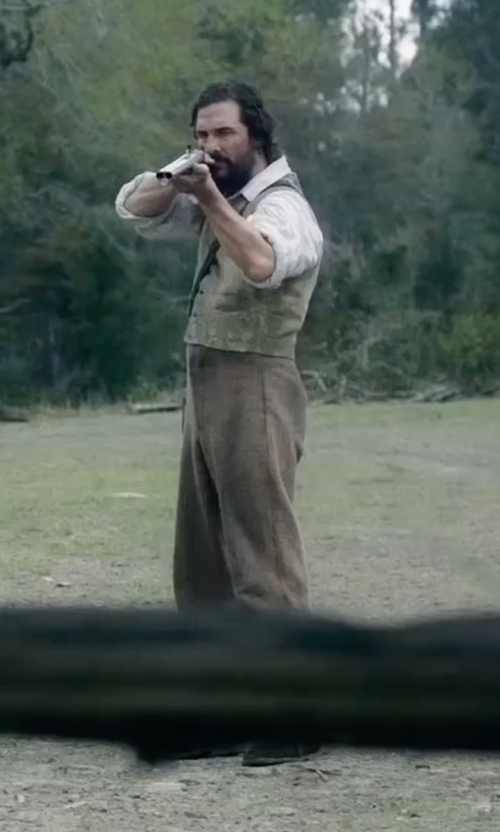Matthew McConaughey with Fay Chino Trousers in Free State of Jones