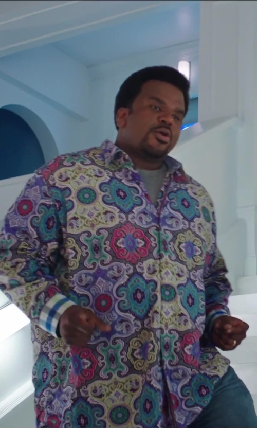 Craig Robinson with Robert Graham Aruba Nat L/S Woven Sport Shirt in Hot Tub Time Machine 2