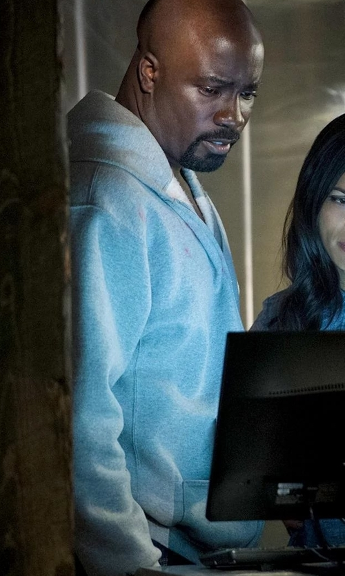 Mike Colter with Brunello Cucinelli Zip-Up Spa Hoodie in Marvel's Luke Cage