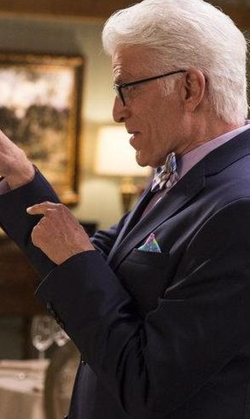 Ted Danson with Saks Fifth Avenue Collection Paisley Pocket Square in The Good Place