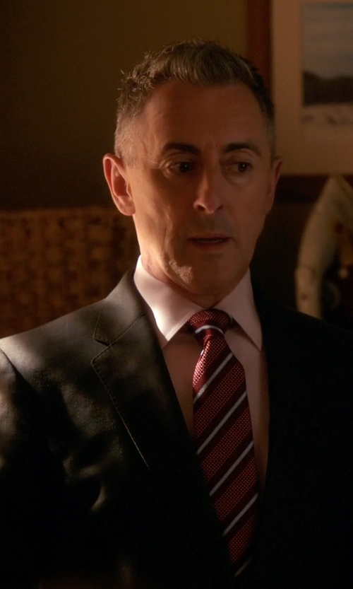 Alan Cumming with Eton Stripe Silk Tie in The Good Wife
