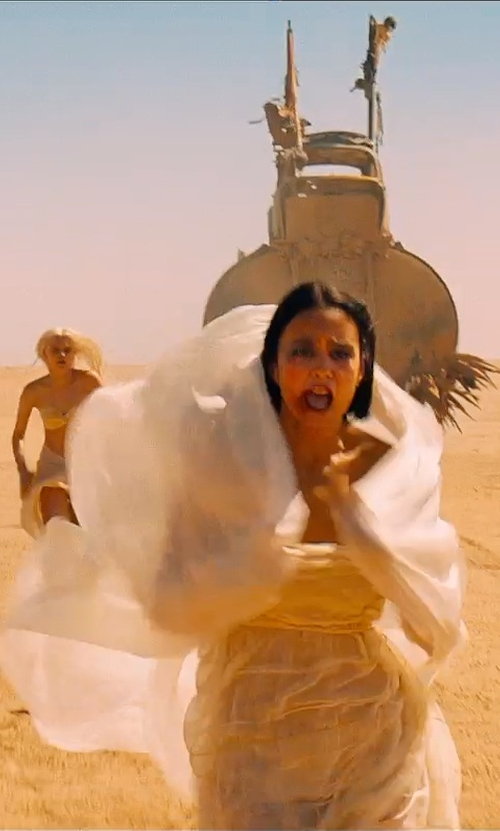 Courtney Eaton with Jenny Beavan Custom Made White Dress (Fragile) in Mad Max: Fury Road