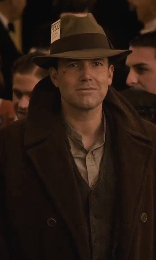 Ben Affleck with Cole Haan Wool Double-Breasted Coat in Live By Night