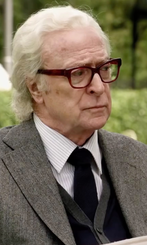 Michael Caine with David Donahue Woven Silk Tie in Youth