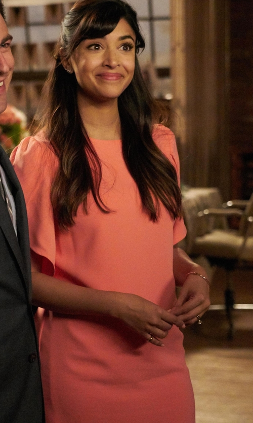 Hannah Simone with Cynthia Steffe  Sunday Crepe Shift Dress in New Girl