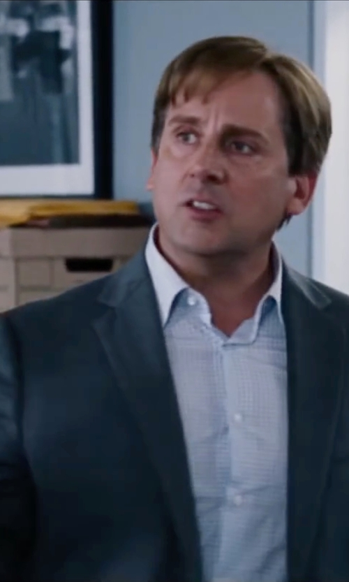 Steve Carell with Versace Notch Lapel Sport Coat in The Big Short