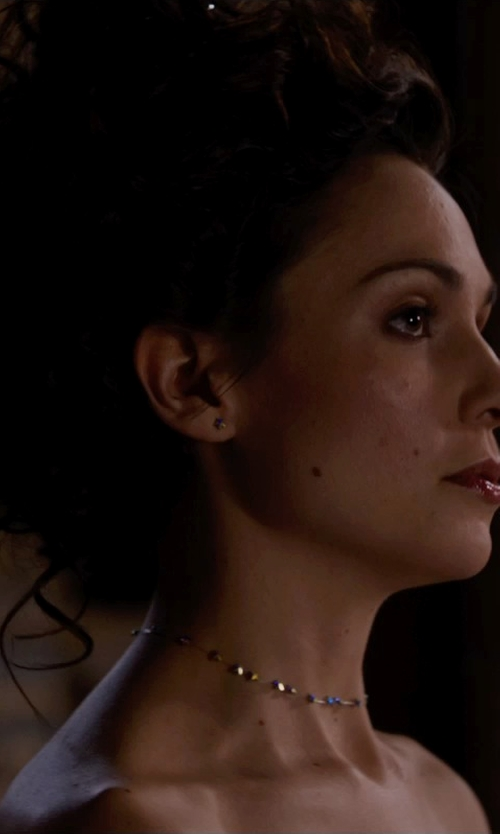 Tuppence Middleton with Trendy Design Cultured Freshwater Silver Pearl Necklace in Jupiter Ascending