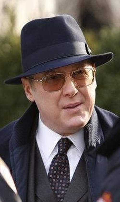 James Spader with Borsalino Tasso Fedora Hat in The Blacklist