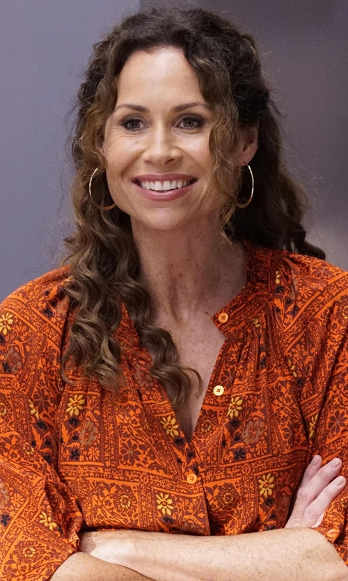 Minnie Driver with Moschino Couture Knee-Length Shirtdress in Speechless