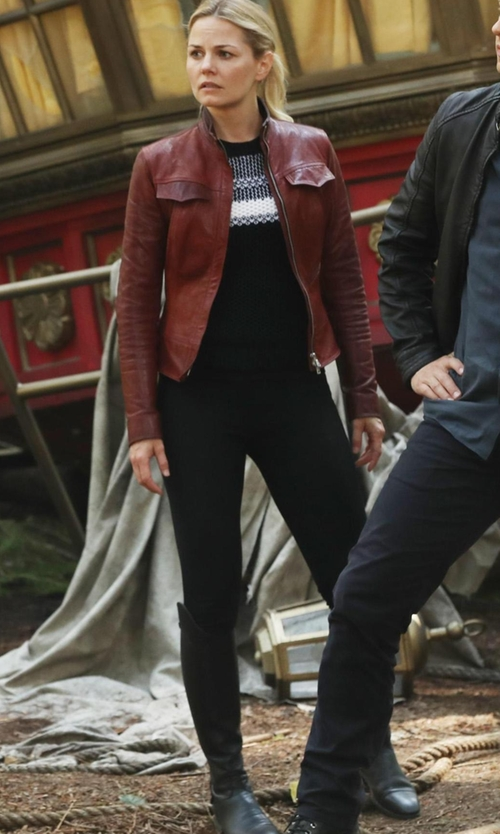 Jennifer Morrison with Frye Paige Tall Riding Boot in Once Upon a Time