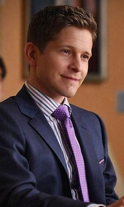 Matt Czuchry with Van Laack Tailor Fit Remco Shirt in The Good Wife
