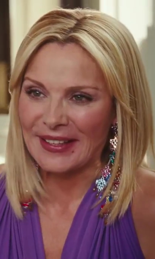 Kim Cattrall with Rodrigo Otazu 'Samantha' Earrings in Sex and the City 2