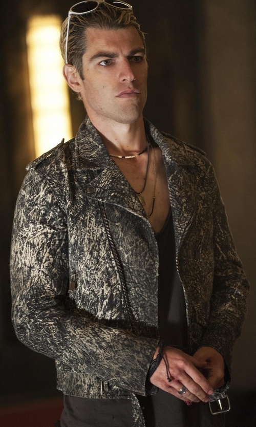 Max Greenfield with Sandro Thrasher Jacket in American Horror Story