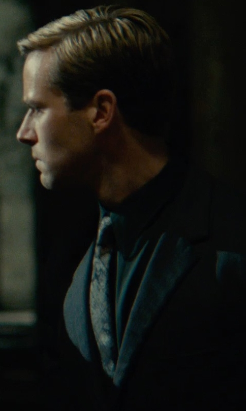 Armie Hammer with John W. Nordstrom 'Cooks' Paisley Silk Tie in The Man from U.N.C.L.E.