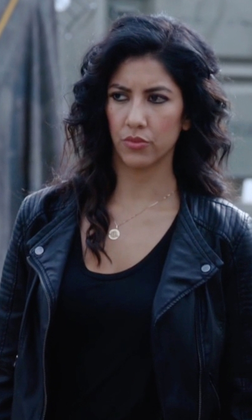 Stephanie Beatriz with St. John Contour Scoop Neck Tank Top in Brooklyn Nine-Nine