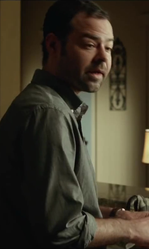 Rory Cochrane with Croft & Barrow Denim Woven Casual Button-Down Shirt in Oculus