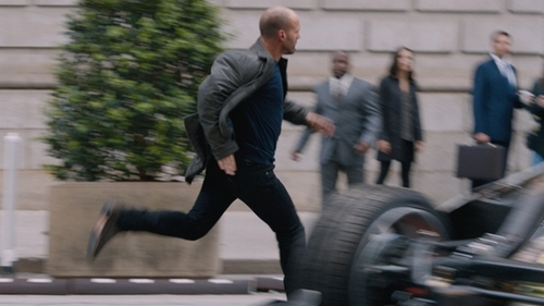 Jason Statham with John Varvatos Sid Crepe Chelsea Boots in The Fate of the Furious