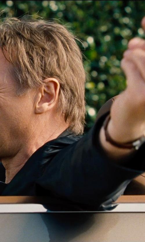Liam Neeson with Ralph Lauren Black Label Leather Blazer in Entourage