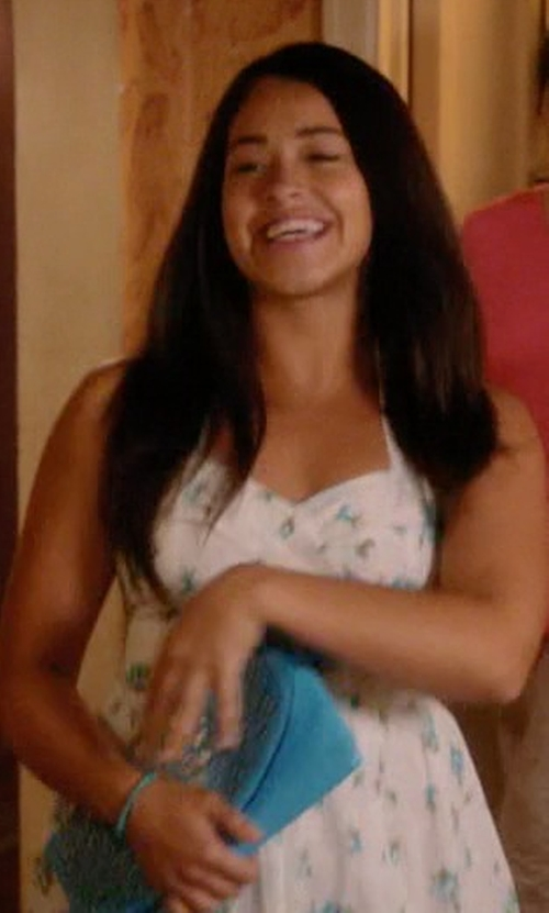 Gina Rodriguez with Sydney Evan Beaded Bracelet in Jane the Virgin