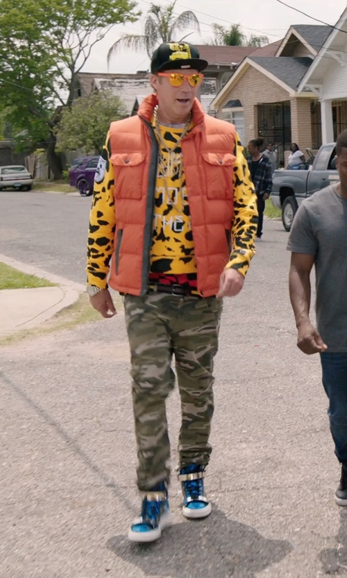 Will Ferrell with Columbia Gold TurboDown Down Vest in Get Hard