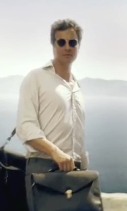 Colin Firth with John W. Nordstrom Trim Fit Solid Dress Shirt in Mamma Mia!