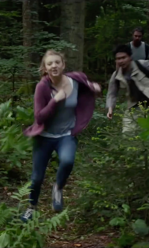 Natalie Dormer with UGG Australia Women's Benson Hoodie Jacket in The Forest