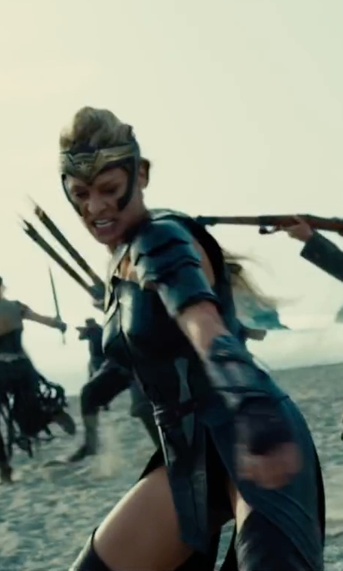 Robin Wright with Lindy Hemming (Costume Designer) Custom Made Amazon Costume (General Antiope) in Wonder Woman