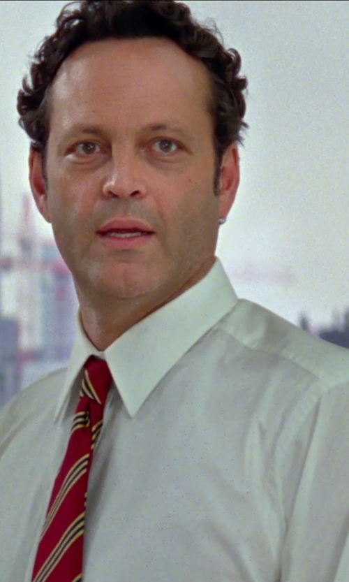 Vince Vaughn with Isaac Mizrahi Twill Solid Dress Shirt in Unfinished Business
