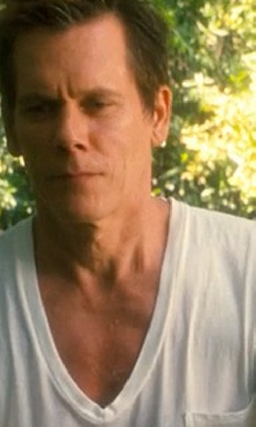 Kevin Bacon with Neil Barrett Slub T-Shirt in Crazy, Stupid, Love.