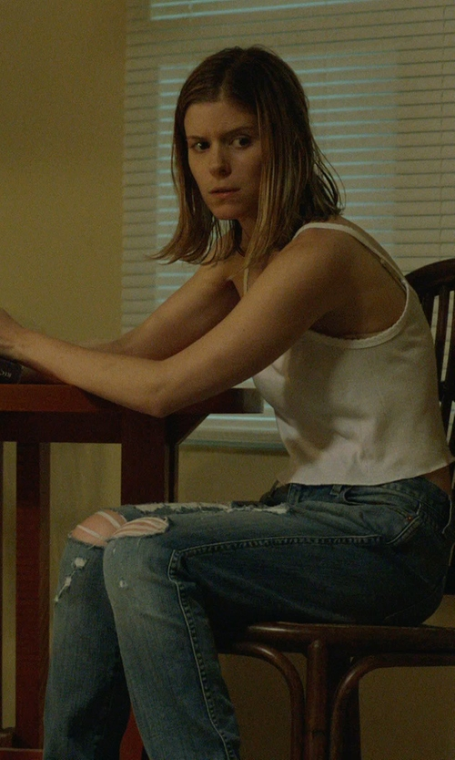 Kate Mara with Genetic Denim Gia Distressed Boyfriend Jean in Captive