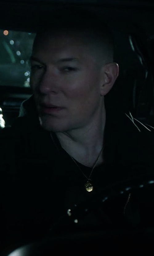 Joseph Sikora with Rick Owens Hooded Leather Jacket in Power