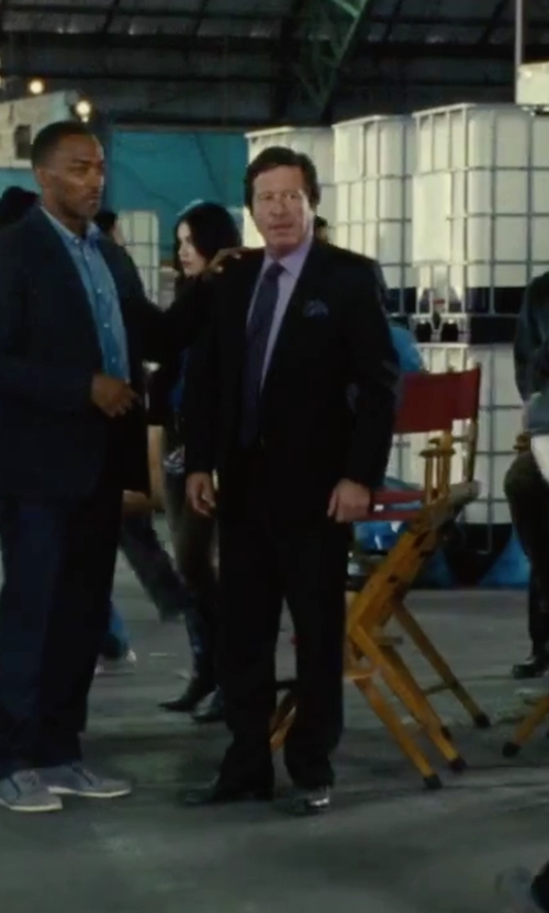 Joaquim de Almeida with Giorgio Armani Rubber-Bottom Dress Oxford Shoes in Our Brand Is Crisis