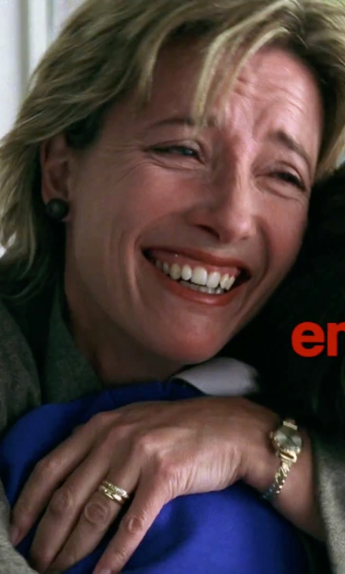 Emma Thompson with DKNY 'Stanhope' Chain Link Bracelet Watch in Love Actually